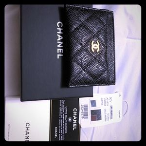 Like New Chanel Black Card Holder